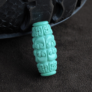 高瓷绿松石桶珠