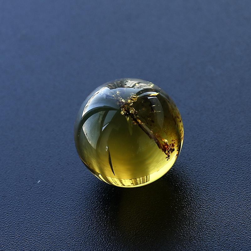 缅甸植物花珀圆珠