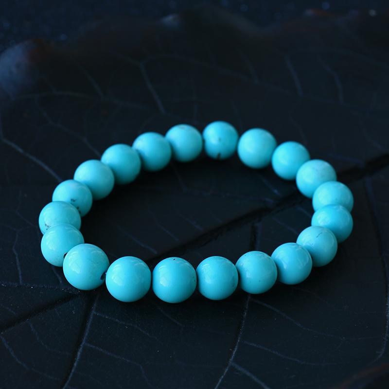 高瓷蓝绿松石手串