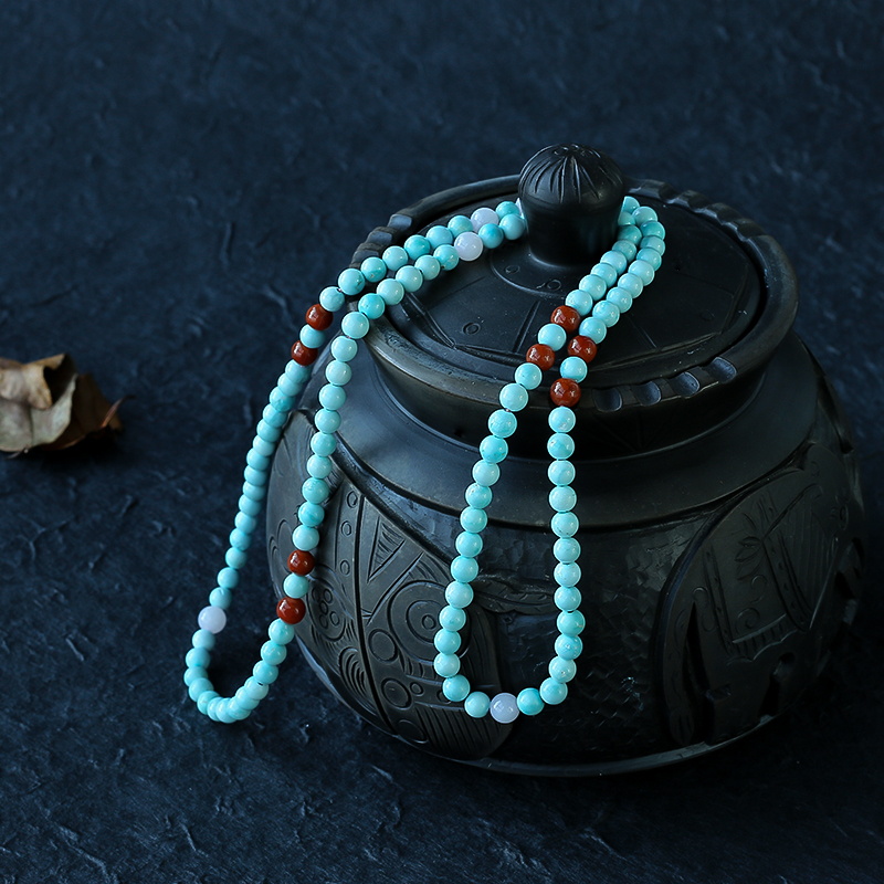 高瓷绿松石108手串