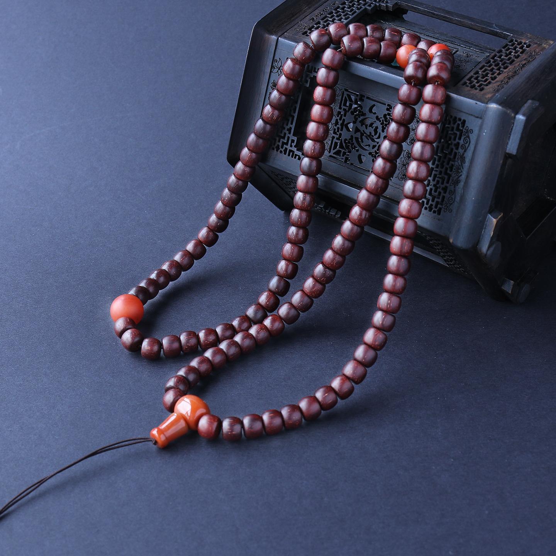 满星小叶紫檀桶珠手串