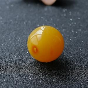 鸡油黄蜜蜡圆珠