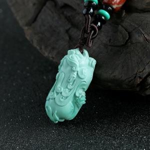 绿松石貔貅吊坠