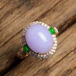 红翡绿翠紫为贵,紫罗兰翡翠的鉴赏及评估!