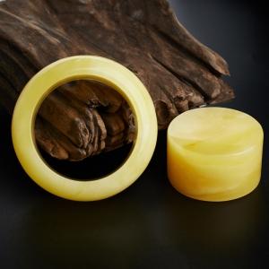 雞油黃蜜蠟手鐲鐲心套裝