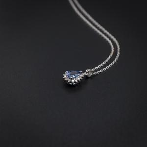 18K镶钻蓝宝石项链