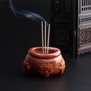 柿子红南红香炉