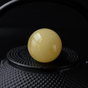 柠檬黄满蜜蜜蜡大圆珠