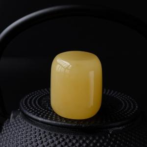 满蜜鸡油黄蜜蜡桶珠