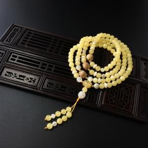 6mm金绞蜜佛珠手串
