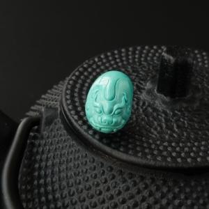 绿松石貔貅戒面