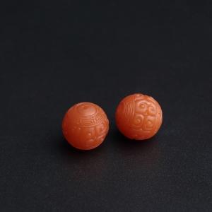 11mm保山南红回纹珠
