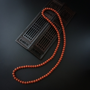 6mm柿子红南红佛珠手串
