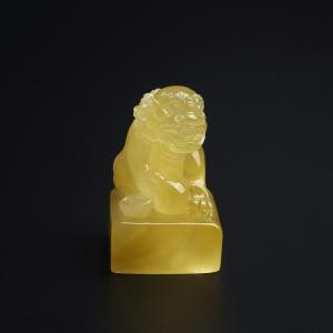 柠檬黄满蜜蜜蜡狮子印章