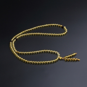 5.5mm蟲珀佛珠手串