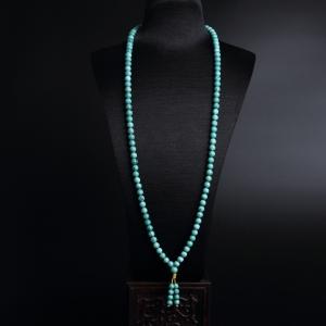 7mm绿松石项链