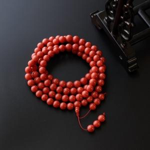 8.5mm沙丁红珊瑚佛珠