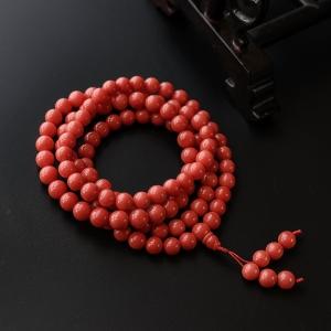 7.5mm沙丁红珊瑚佛珠