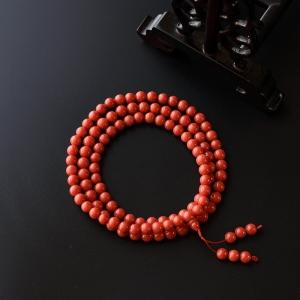 6.5mm沙丁红珊瑚佛珠