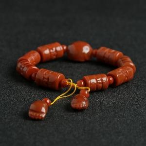 南红桶珠手串