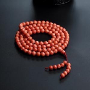6mmMOMO红珊瑚佛珠