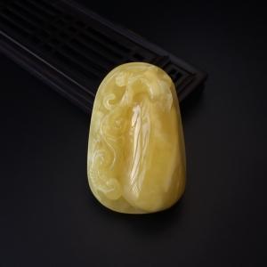 黄白蜜蜜蜡福瓜吊坠