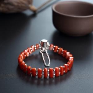 阿卡红珊瑚手排链