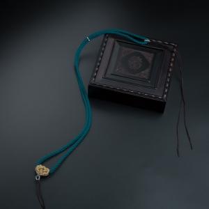 双钱结米兰蓝色项链绳