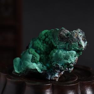孔雀石原礦擺件
