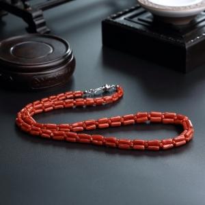 沙丁珊瑚项链/手链套装