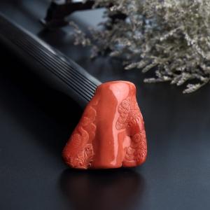 MOMO红珊瑚鹤吊坠