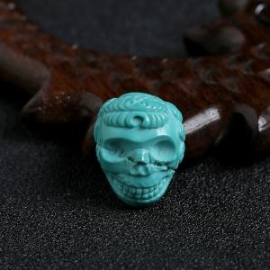 绿松玉化骷髅吊坠