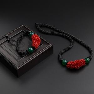 沙丁红珊瑚套装