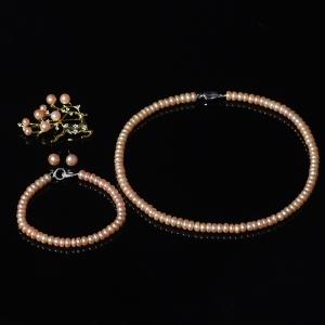 银镶淡水珍珠四件套