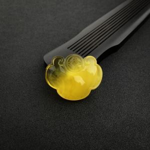 金包蜜雞油黃蜜蠟如意鎖吊墜