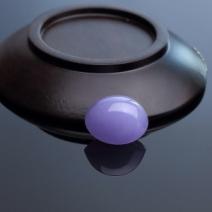 糯种紫罗兰翡翠戒面