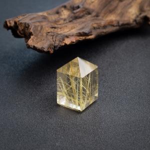 钛金发晶印章