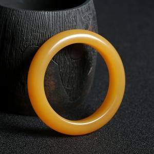 55#籽料橙黄黄龙玉圆镯