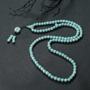 中高瓷铁线浅蓝绿松石108佛珠