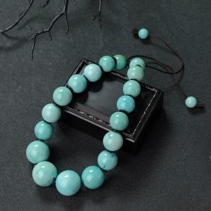 中高瓷铁线蓝绿绿松石手持