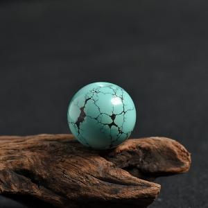 高瓷高蓝绿松苹果珠