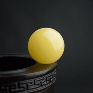 32mm白花蜜蜜蜡圆珠