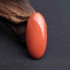 MOMO橘红珊瑚戒面