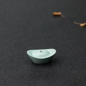 中瓷蓝绿绿松石元宝背云