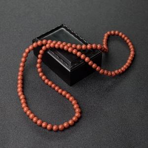 7mm柿子红南红项链