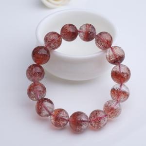 14mm金草莓晶手串