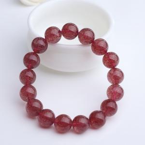 12mm草莓晶手串