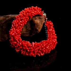 沙丁朱紅珊瑚手鏈