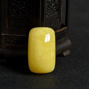 柠檬黄蜜蜡随形吊坠