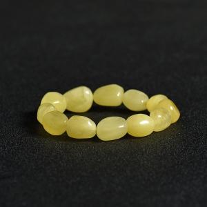 柠檬黄蜜蜡随形手串
